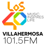 LOS40 Villahermosa 101.5 FM 101.5 FM Mexico, Reforma