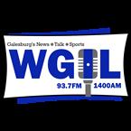 WGIL 93.7 FM & 1400 AM 1400 AM United States of America, Galesburg