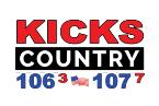 Kicks Country 106.3 FM USA, Bluefield