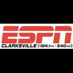 ESPN Clarksville 104.1 FM & 540 AM 540 AM United States of America, Clarksville