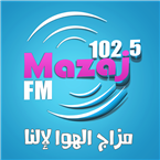 Mazaj FM 102.5 FM Palestine, West Bank