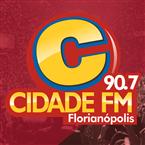 Rádio Cidade FM 90.7 FM Brazil, Florianópolis